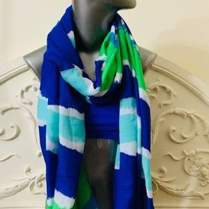 Echo Turquoise Blues Oblong Scarf